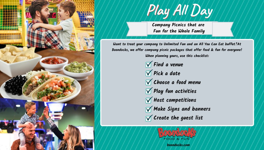Play All Day | Food & Fun for the Whole Office: Company Picnics at Boondocks | Boondocks Food & Fun