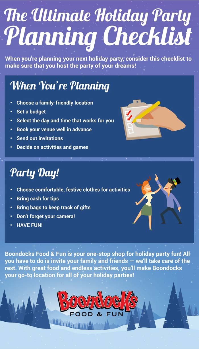 Party Planning Checklist | Keep the Kids Entertained at Your Next Holiday Party | Boondocks Food & Fun