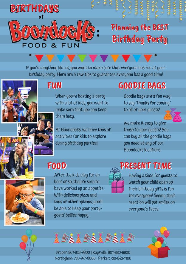 Birthdays at Boondocks (2) | The Best Kids' Birthday Parties Happen at Boondocks | Boondocks Food & Fun